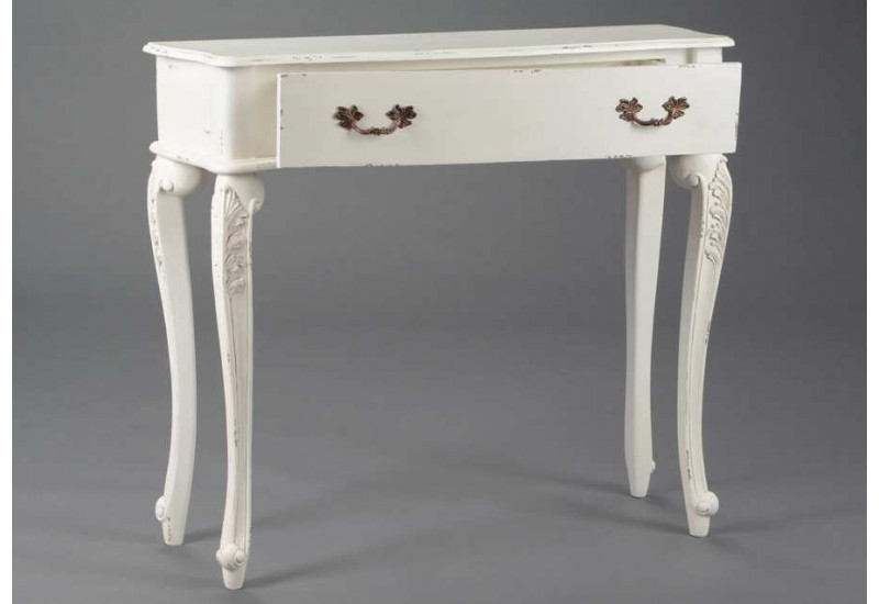 console baroque chic blanche fontainebleau amadeus 21103. Black Bedroom Furniture Sets. Home Design Ideas