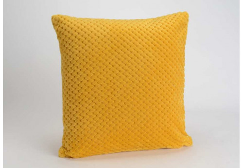 Coussin déhoussable Damier Moutarde 40X40 cm