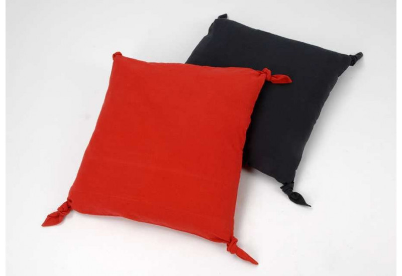 coussin d houssable noeuds rouge et gris60 cm lot de 2 amadeus 21220. Black Bedroom Furniture Sets. Home Design Ideas