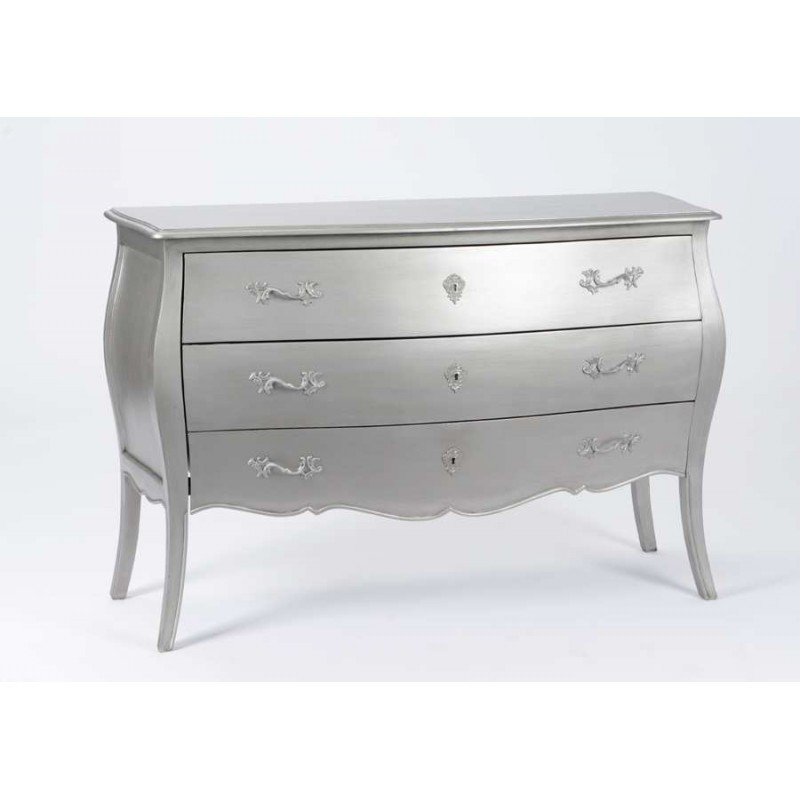 Grande commode 3 tiroirs murano new silver ebay for Grande commode