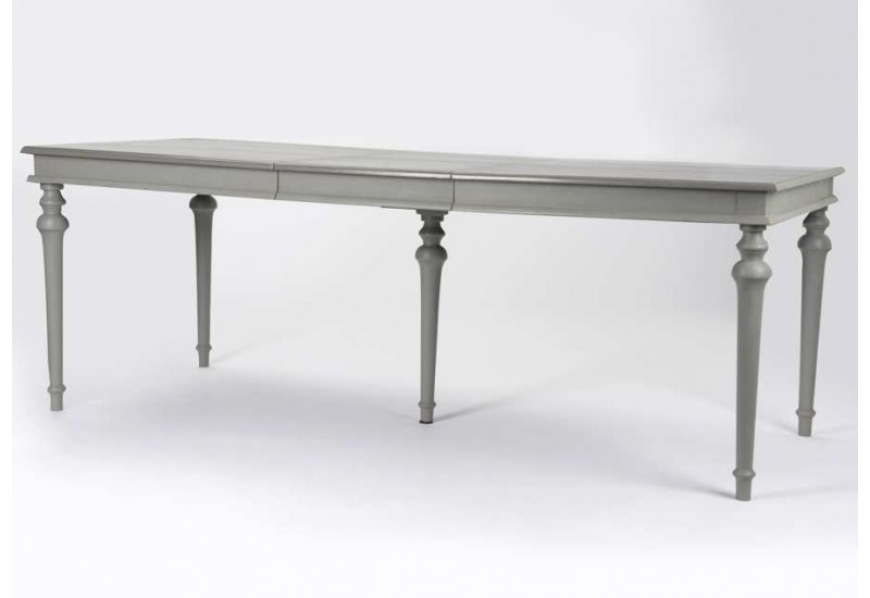 Table grise avec rallonge maison design for Table manger rallonge