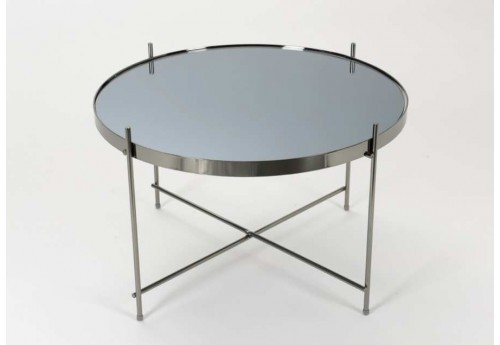 Table basse ronde gris Canon fusil