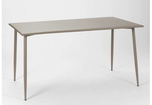 Table rectangulaire scandinave en acier Taupe Epoxy