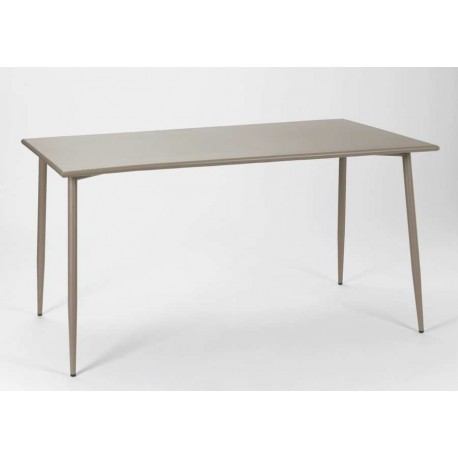 table rectangulaire scandinave en acier taupe epoxy amadeus 21747. Black Bedroom Furniture Sets. Home Design Ideas
