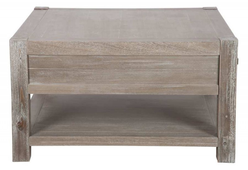 Table basse en bois carre for Table basse en bois naturel