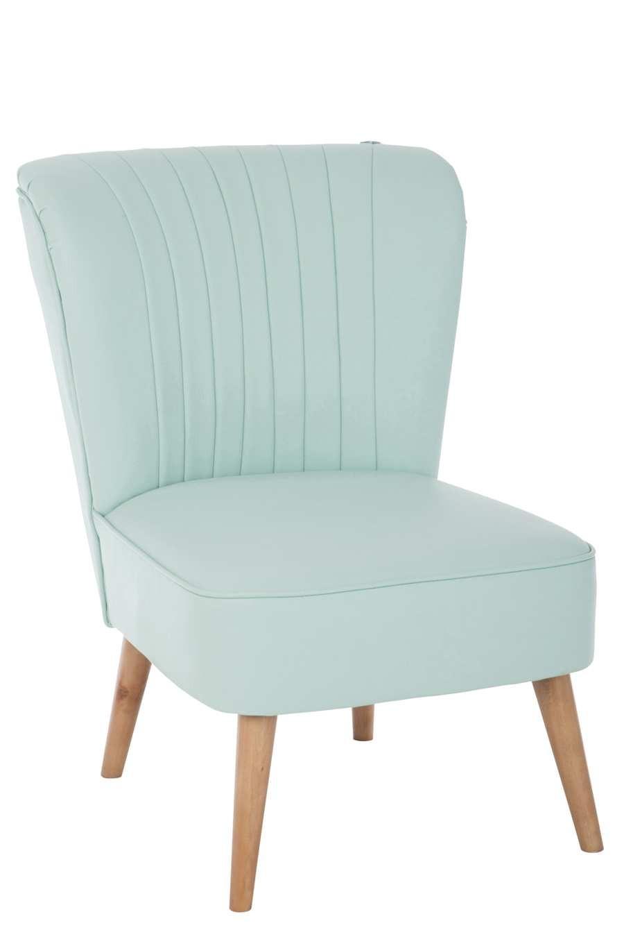 fauteuil cocktail scandinave Vert 53X68X78Cm J-Line by Jolipa 22143