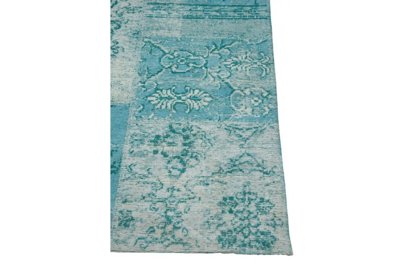 tapis chenille bleu turquoise 200x300cm j line by jolipa 22251. Black Bedroom Furniture Sets. Home Design Ideas