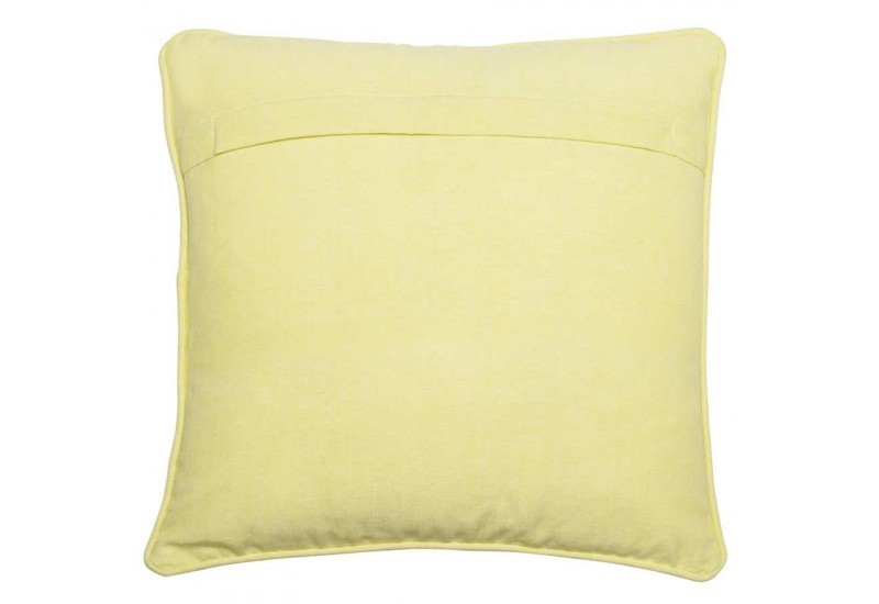 coussin d houssable citron en coton jaune 45x45cm j line by jolipa. Black Bedroom Furniture Sets. Home Design Ideas