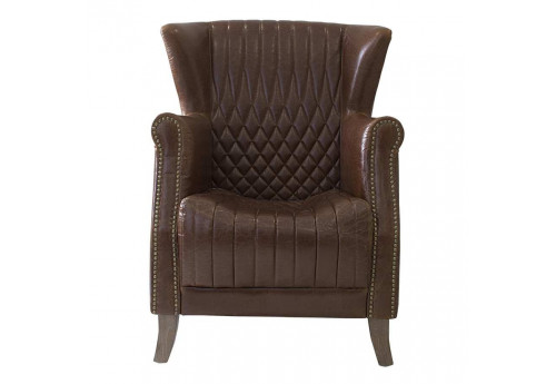 fauteuil en cuir vieilli marron vical home vical home 23283. Black Bedroom Furniture Sets. Home Design Ideas