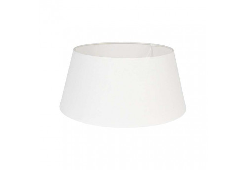 Abat-jour en lin collection Fem 40 cm blanc Coté Table