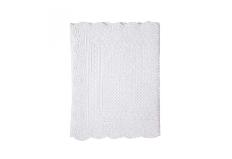 Chemin de table en boutis 150x50 cm blanc cot table lot - Chemin de table boutis ...