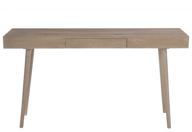 console moderne 1 tiroir bois naturel 150x40x80cm j line by jolipa. Black Bedroom Furniture Sets. Home Design Ideas