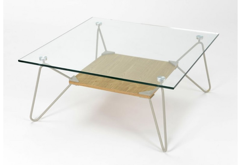 Table basse carree wenge et verre - Table basse carree verre ...