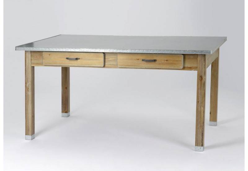 Plateau pour table a manger maison design for Table salle manger plateau zinc