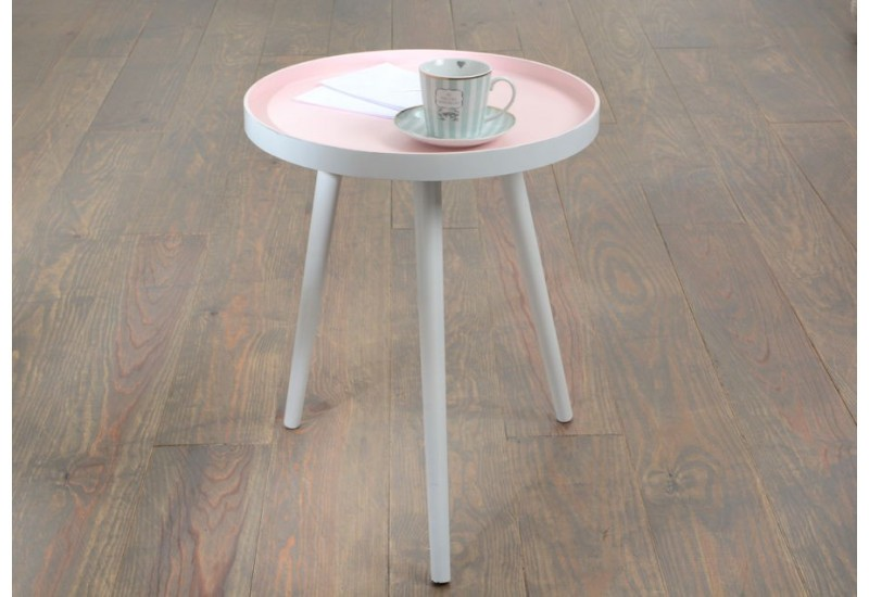 Table d 39 appoint tr pieds scandinave rose amadeus 25848 for Table appoint scandinave