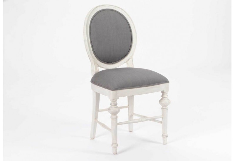 Chaise medaillon blanche maison design for Chaise blanche et grise