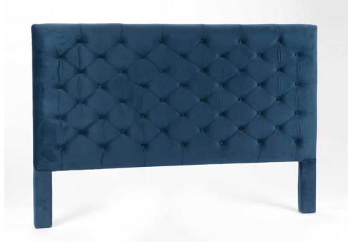t te de lit 180 cm capitonn en velours bleu encre amadeus. Black Bedroom Furniture Sets. Home Design Ideas