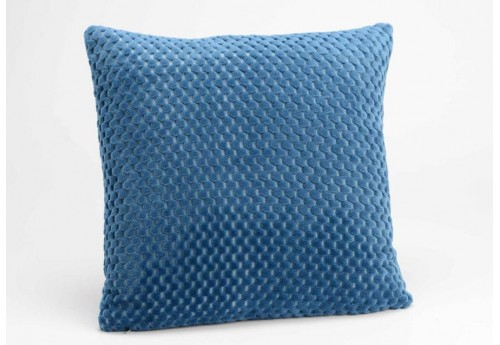 coussin damier en velours bleu nuit 40x40 cm amadeus 26475. Black Bedroom Furniture Sets. Home Design Ideas