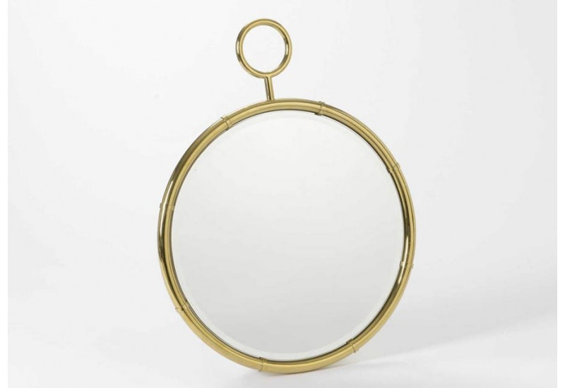 Grand miroir rond or amadeus 26626 for Miroir rond grand