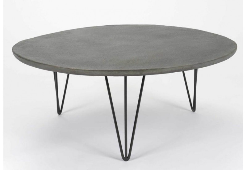 Table basse ronde en aluminium - Table basse metal ronde ...