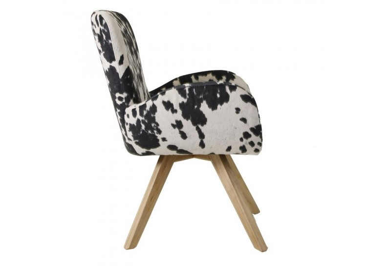 fauteuil scandinave dessus vache vical home 27872. Black Bedroom Furniture Sets. Home Design Ideas