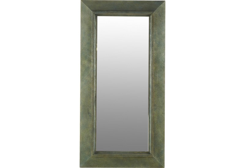 Grand miroir rectangulaire en bois vieilli 94xh187cm for Grand miroir rectangulaire