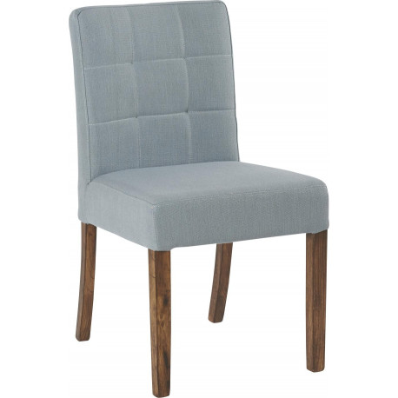 Chaise design en ch ne et lin bleu p trole kimi 47x54xh84 for Chaise eames bleu petrole