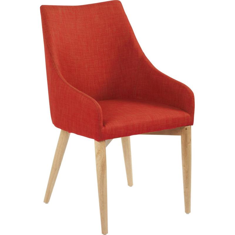 chaise scandinave dallas tissu corail 50x56xh89cm lot de. Black Bedroom Furniture Sets. Home Design Ideas