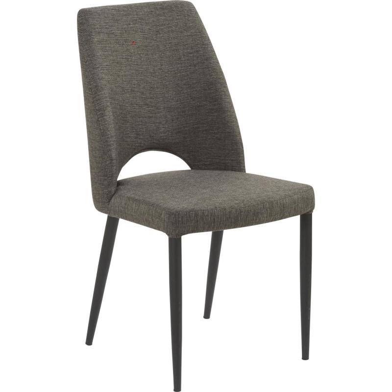 chaise scandinave minsk en lin gris anthracite 46x60xh89cm. Black Bedroom Furniture Sets. Home Design Ideas