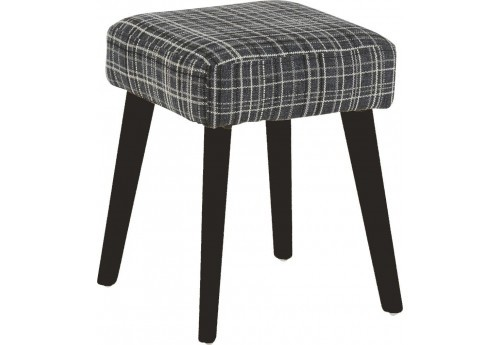 repose pieds scandinave wayne tartan anthracite 33x33xh40cm hanjel. Black Bedroom Furniture Sets. Home Design Ideas