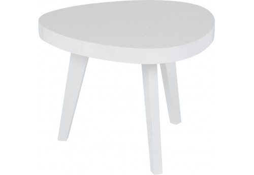 Table basse scandinave forme haricot blanche orsa for Table scandinave blanche