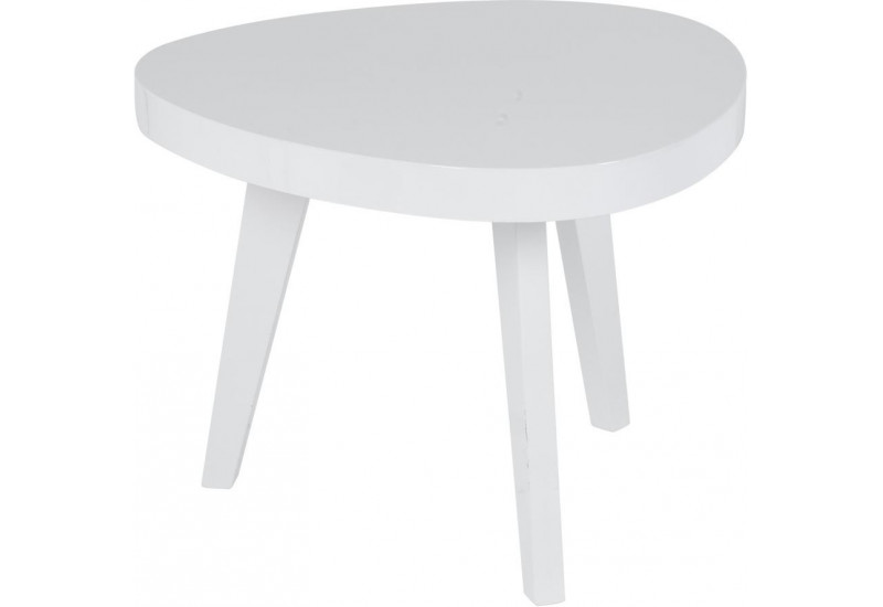 Table basse scandinave forme haricot blanche orsa for Table basse scandinave blanche