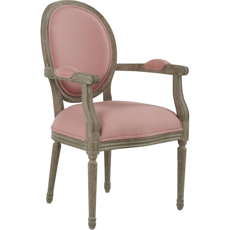 Fauteuil rose - Chaise medaillon rose ...