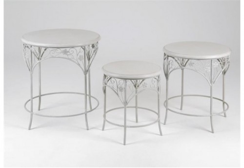 Set de 3 Tables Rondes  Beauregard AMADEUS