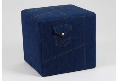 Pouf Carre Denim AMADEUS