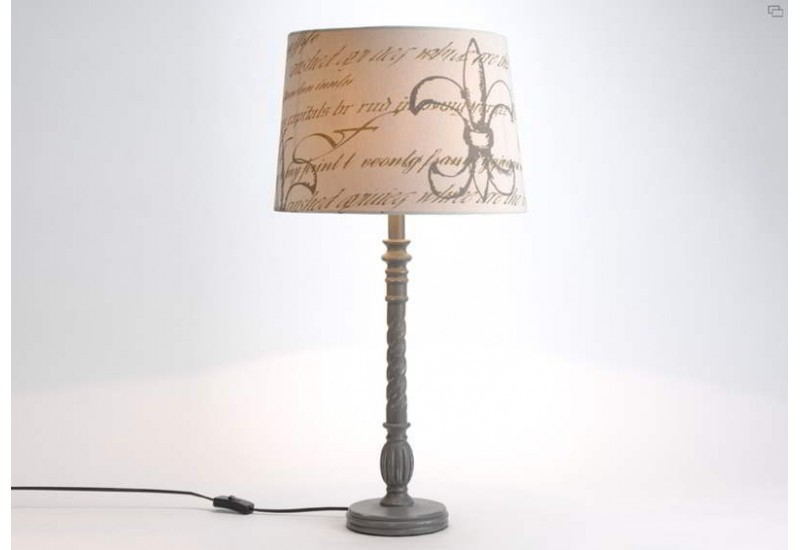 Lampe Ecriture Grisee