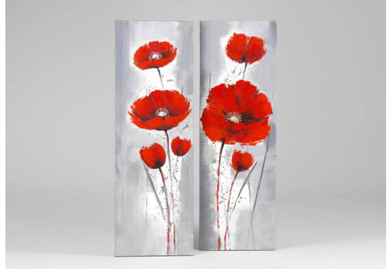 Lot 2 Toiles Coquelicots Rges