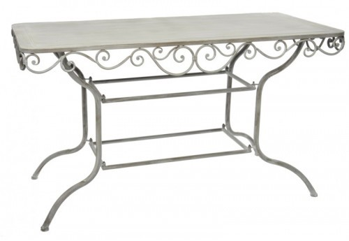 Table Louise Rectangle Fer Gris 136X75X77Cm J-line
