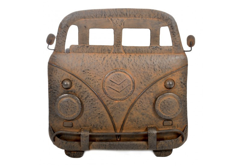 D co murale bus fer marron 54x5x55cm j line j line by for Decoration murale j line