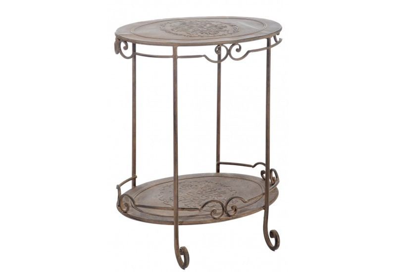 Table Ovale Fer Forge Marron Cm
