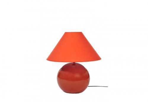 Lampe + Abj Céramique Orange 30X26Cm J-line