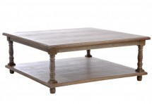 Table De Salon Carre Bois Grey 100X100X40Cm