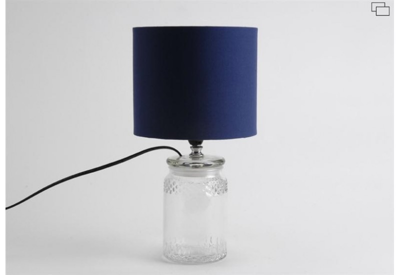 Lampe Table Bocal Bleu