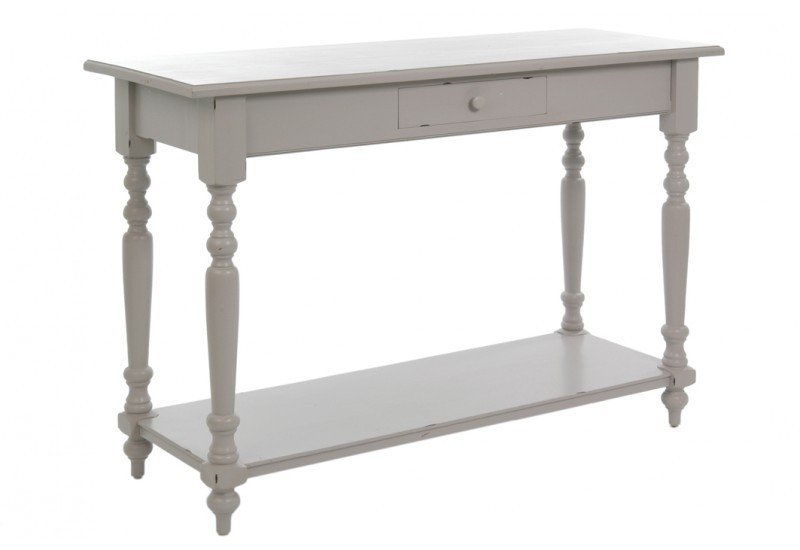 console classique bois gris 140x50x95cm j line j line by jolipa 5079. Black Bedroom Furniture Sets. Home Design Ideas
