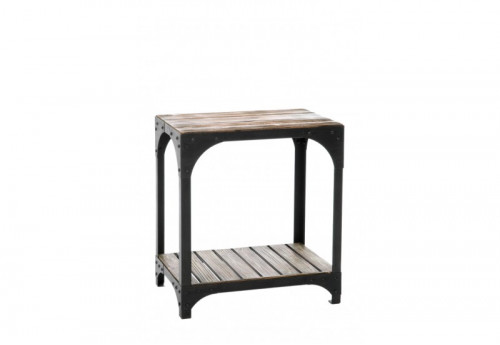 Table Rectangle Fer/Bois Marron/Noir 50X33 J-line
