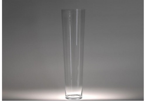 Vase Conique H90 D25 Trsp