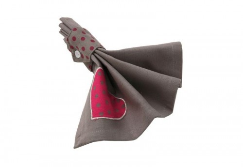 Serviette de table love ALIZEA
