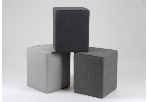 Lot De 3 Poufs Haut Tweed AMADEUS