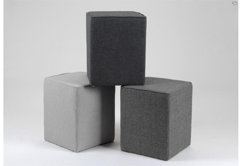 Lot De 3 Poufs Haut Tweed