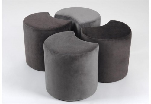Lot De 4 Poufs Eclipse AMADEUS